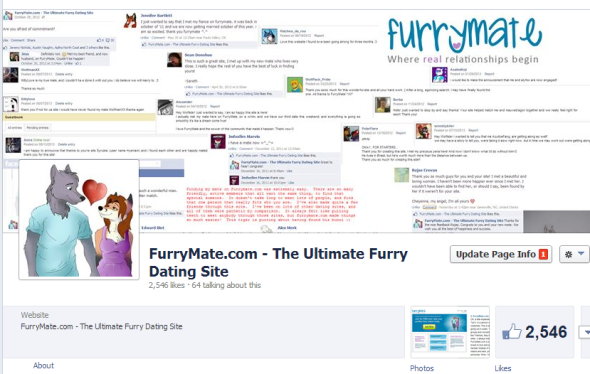Check out FurryMate's Facebook page for the latest updates. We are your #1 Furry Dating Website